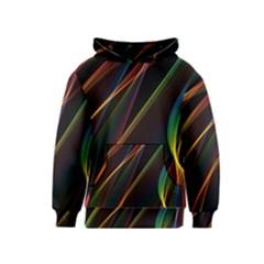 Rainbow Ribbons Kids  Pullover Hoodie