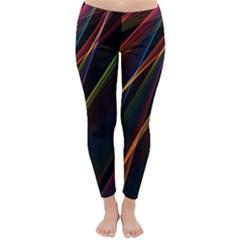 Rainbow Ribbons Classic Winter Leggings