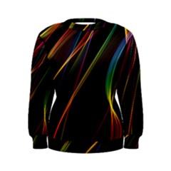 Rainbow Ribbons Women s Sweatshirt