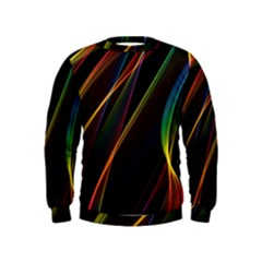 Rainbow Ribbons Kids  Sweatshirt