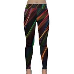Rainbow Ribbons Classic Yoga Leggings
