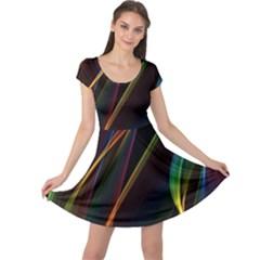 Rainbow Ribbons Cap Sleeve Dresses