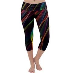Rainbow Ribbons Capri Yoga Leggings