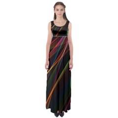 Rainbow Ribbons Empire Waist Maxi Dress
