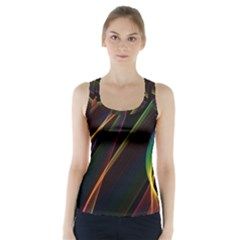 Rainbow Ribbons Racer Back Sports Top