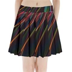 Rainbow Ribbons Pleated Mini Skirt