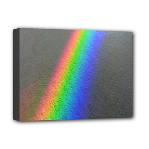 Rainbow Color Spectrum Solar Mirror Deluxe Canvas 16  x 12