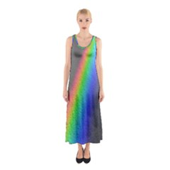 Rainbow Color Spectrum Solar Mirror Sleeveless Maxi Dress