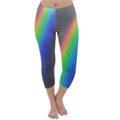 Rainbow Color Spectrum Solar Mirror Capri Winter Leggings