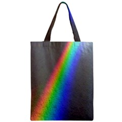 Rainbow Color Spectrum Solar Mirror Zipper Classic Tote Bag