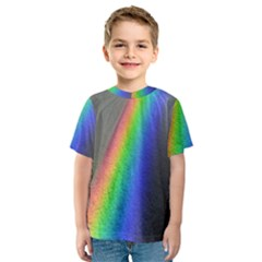 Rainbow Color Spectrum Solar Mirror Kids  Sport Mesh Tee