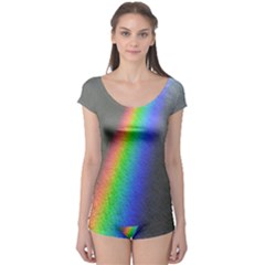 Rainbow Color Spectrum Solar Mirror Boyleg Leotard