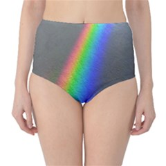 Rainbow Color Spectrum Solar Mirror High-Waist Bikini Bottoms