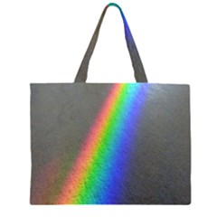 Rainbow Color Spectrum Solar Mirror Zipper Large Tote Bag