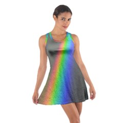 Rainbow Color Spectrum Solar Mirror Cotton Racerback Dress