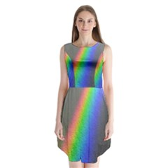 Rainbow Color Spectrum Solar Mirror Sleeveless Chiffon Dress