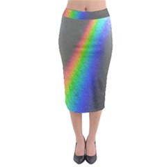 Rainbow Color Spectrum Solar Mirror Midi Pencil Skirt