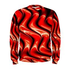 Red Fractal  Mathematics Abstact Men s Sweatshirt