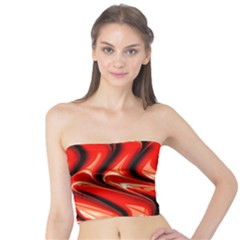 Red Fractal  Mathematics Abstact Tube Top