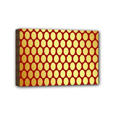 Red And Gold Effect Backing Paper Mini Canvas 6  x 4