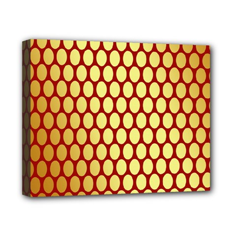 Red And Gold Effect Backing Paper Canvas 10  x 8