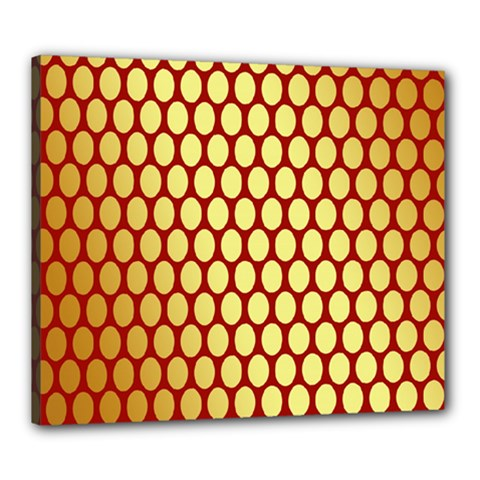 Red And Gold Effect Backing Paper Canvas 24  X 20