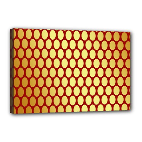 Red And Gold Effect Backing Paper Canvas 18  x 12