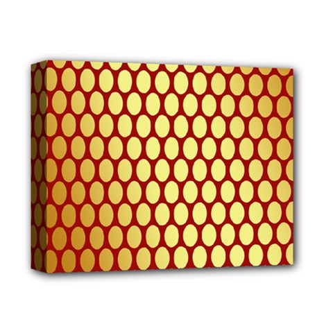Red And Gold Effect Backing Paper Deluxe Canvas 14  X 11