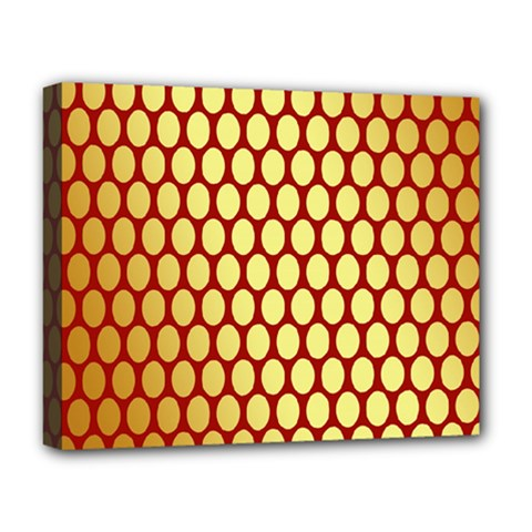 Red And Gold Effect Backing Paper Deluxe Canvas 20  x 16
