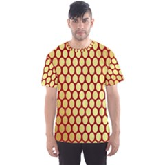Red And Gold Effect Backing Paper Men s Sport Mesh Tee