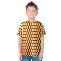 Red And Gold Effect Backing Paper Kids  Cotton Tee