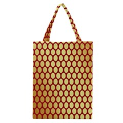 Red And Gold Effect Backing Paper Classic Tote Bag