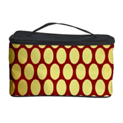 Red And Gold Effect Backing Paper Cosmetic Storage Case