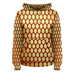 Red And Gold Effect Backing Paper Women s Pullover Hoodie