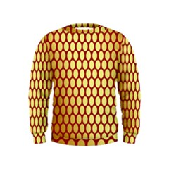 Red And Gold Effect Backing Paper Kids  Sweatshirt