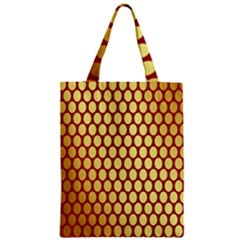 Red And Gold Effect Backing Paper Zipper Classic Tote Bag