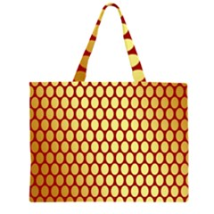 Red And Gold Effect Backing Paper Large Tote Bag