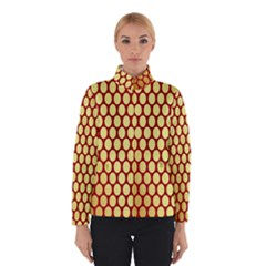 Red And Gold Effect Backing Paper Winterwear