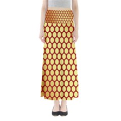 Red And Gold Effect Backing Paper Maxi Skirts