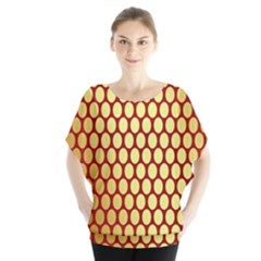 Red And Gold Effect Backing Paper Blouse