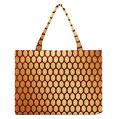 Red And Gold Effect Backing Paper Medium Zipper Tote Bag