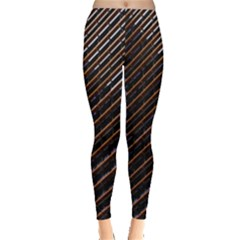 Red And Black High Rise Building Leggings