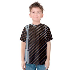 Red And Black High Rise Building Kids  Cotton Tee