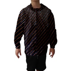 Red And Black High Rise Building Hooded Wind Breaker (kids)
