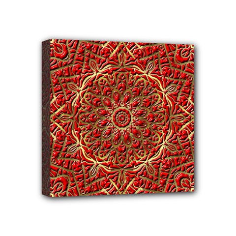 Red Tile Background Image Pattern Mini Canvas 4  x 4