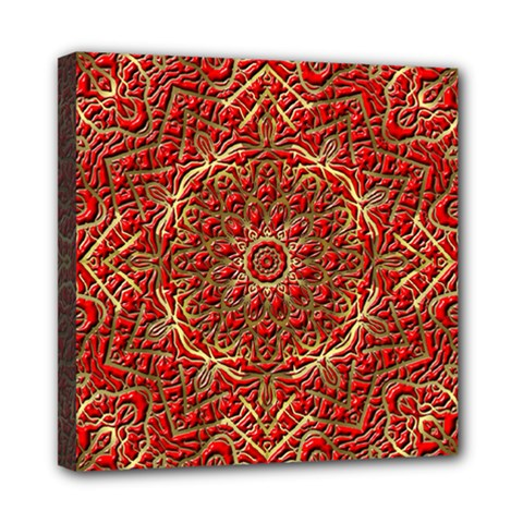 Red Tile Background Image Pattern Mini Canvas 8  x 8