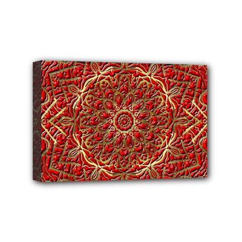 Red Tile Background Image Pattern Mini Canvas 6  X 4