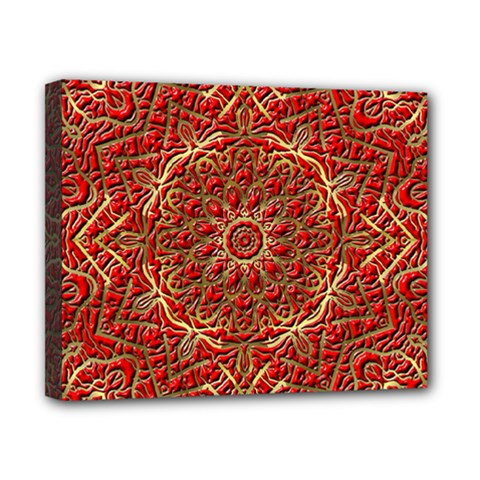Red Tile Background Image Pattern Canvas 10  x 8