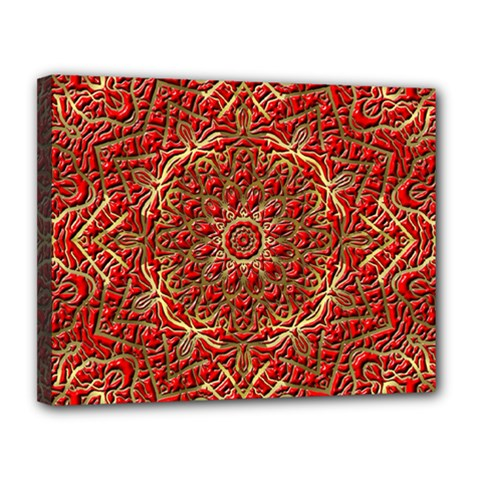 Red Tile Background Image Pattern Canvas 14  x 11