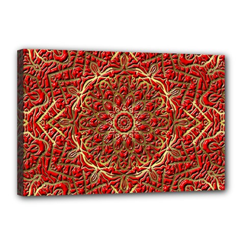 Red Tile Background Image Pattern Canvas 18  X 12